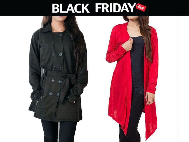 Ladies Coat & Shrug Black Friday Deal Price in Pakistan