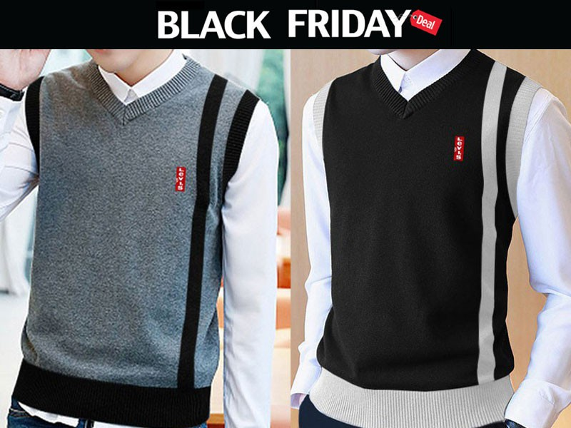 2 Sleeveless Sweaters Black Friday Deal Price in Pakistan