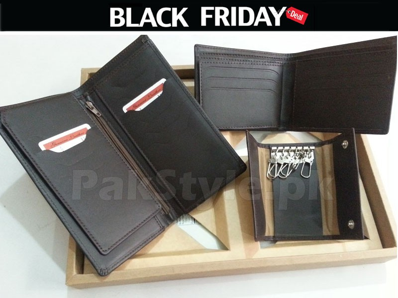 3 in 1 Executive Leather Gift Set