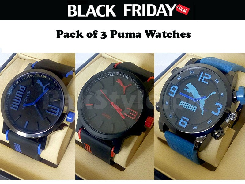 3 Puma Boys Watches Black Friday Deal Price in Pakistan