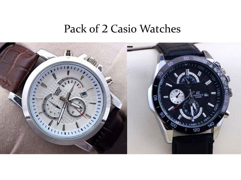2 Casio Watches Bundle Pack Price in Pakistan