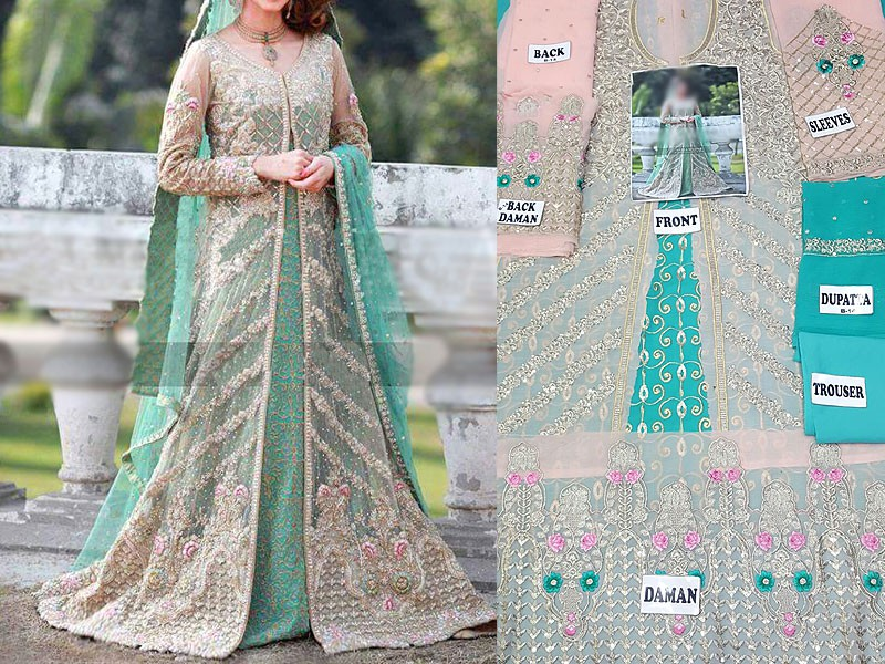 Chiffon Embroidered Bridal Suit Price in Pakistan
