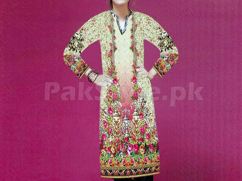 Digital Printed Stitched Kurti D-03
