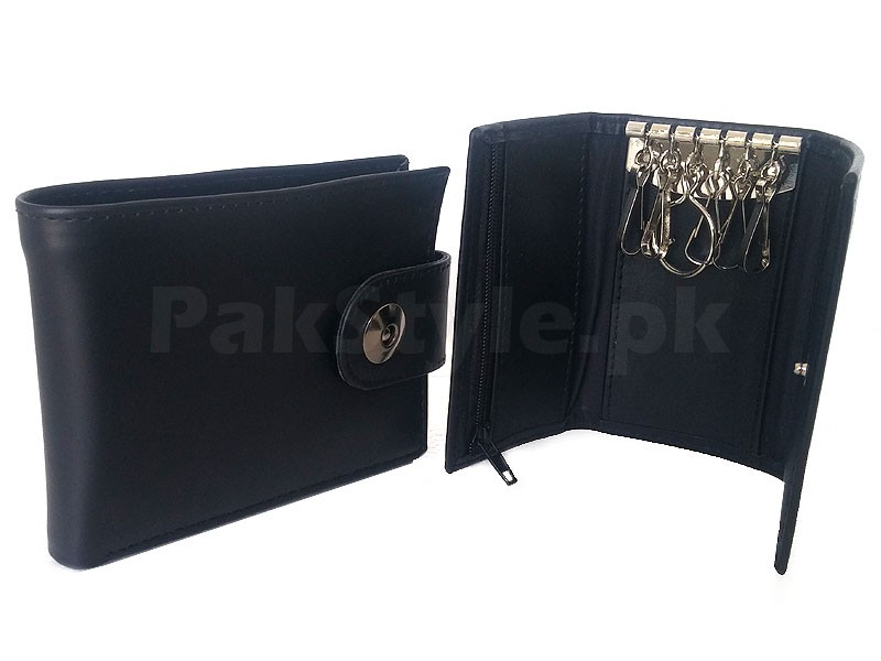 Croc Embossed Leather Wallet - Brown Price in Pakistan