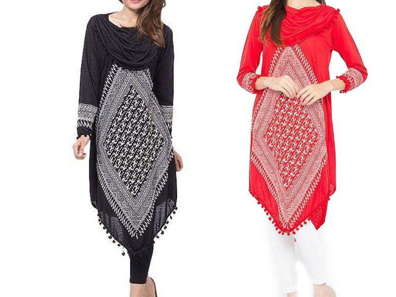 Pack of 2 Womens Cowl Neck Tops Price in Pakistan