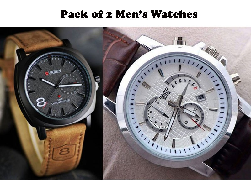 Sale: Curren & Casio Watches Combo Pack Price in Pakistan