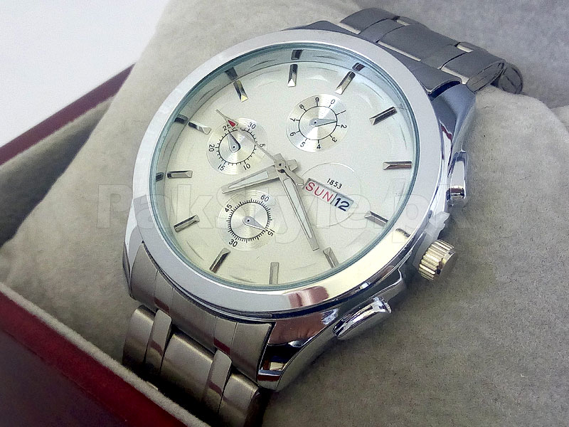 Men's Silver Day-Date Watch