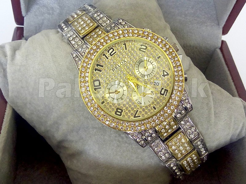 Rolex Winner 24 Watch | 2 Tone Golden Price in Pakistan