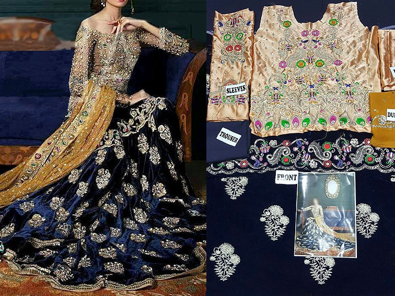 e31d8b073a Sale: Bridal Embroidered Velvet Frock Price in Pakistan (M009041 ...