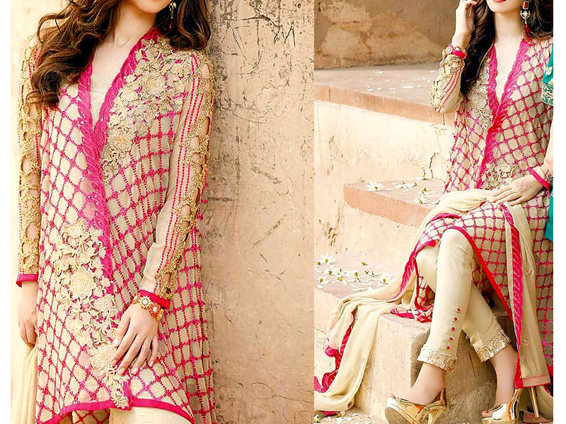 Embroidered Swiss Lawn Dress with Silk Dupatta Price in Pakistan