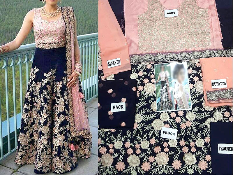 Embroidered Chiffon Bridal Lehenga Dress