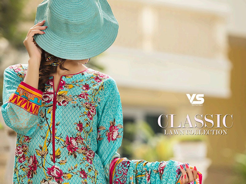 VS Classic Lawn Suit with Lawn Dupatta  C1-1A Price in Pakistan