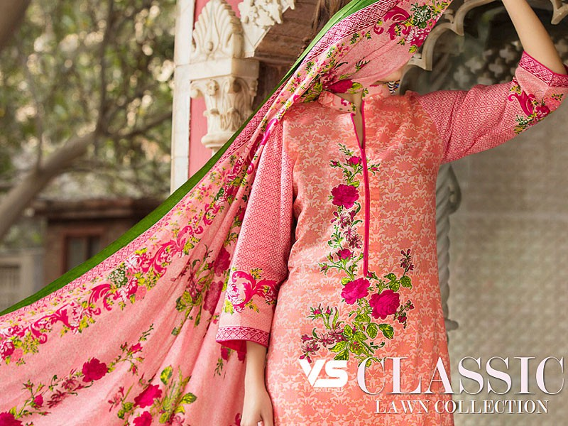 VS Classic Lawn Suit with Lawn Dupatta C1-8A