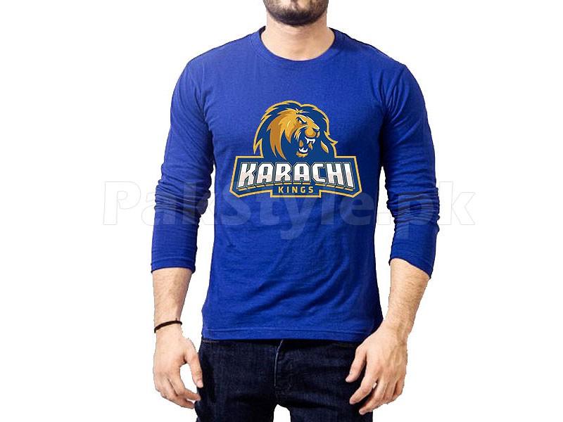 4cfcd76e6e4f28 Karachi Kings PSL Full Sleeves T-Shirt Price in Pakistan (M009121 ...