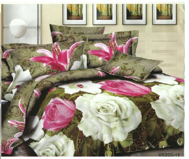 3D Bed Sheet With 2 Pillow Covers (3D-12)
