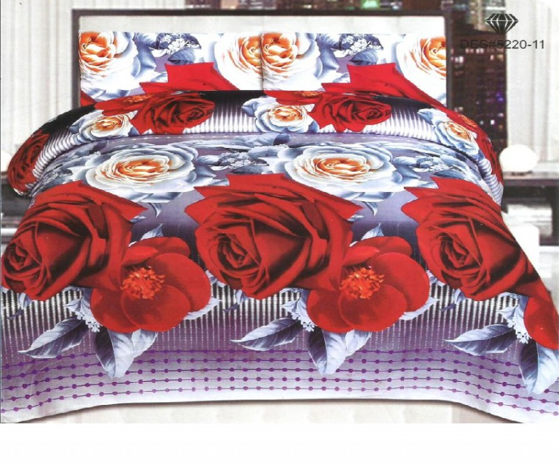 3D Bed Sheet With 2 Pillow Covers (3D-17)