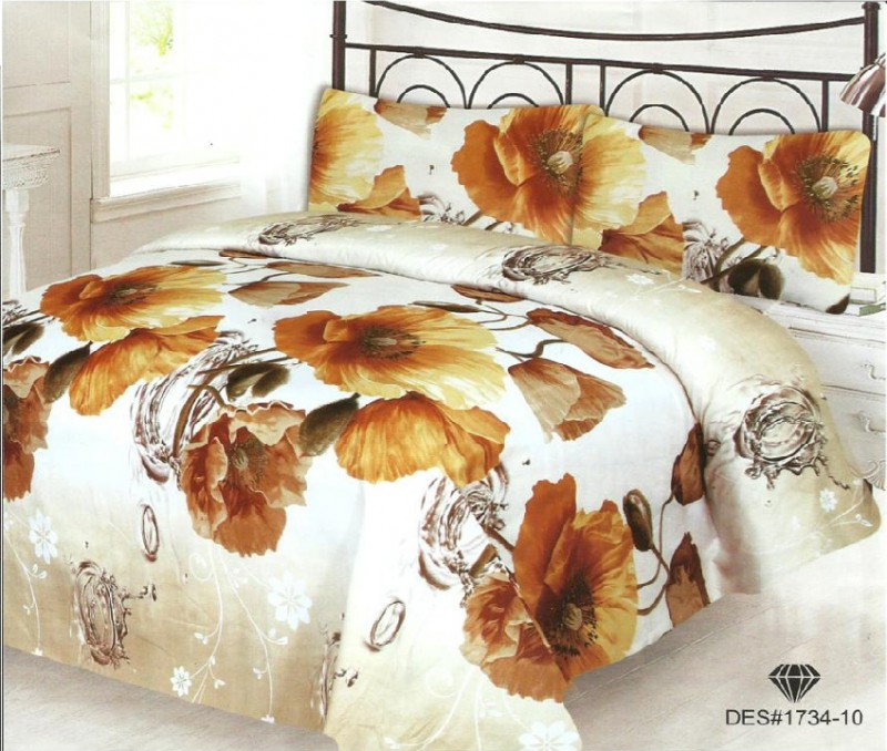 3D Bed Sheet With 2 Pillow Covers (3D-19)
