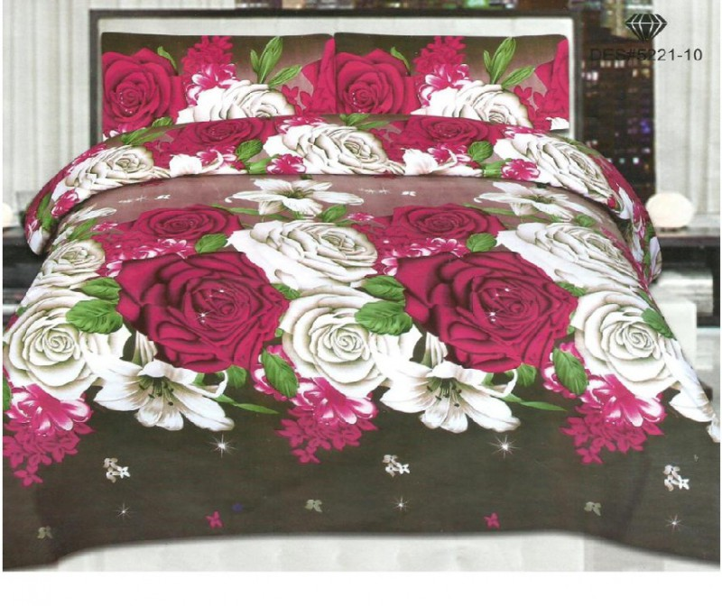 3D Bed Sheet With 2 Pillow Covers (3D-20)