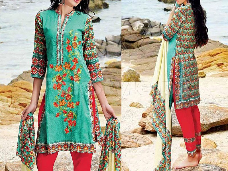 MTF Embroidered Lawn Dress D02-A