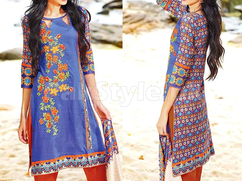MTF Embroidered Lawn Dress D02-B