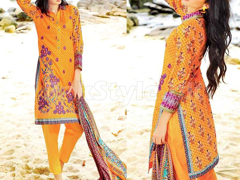 MTF Embroidered Lawn Dress D03-B Price in Pakistan