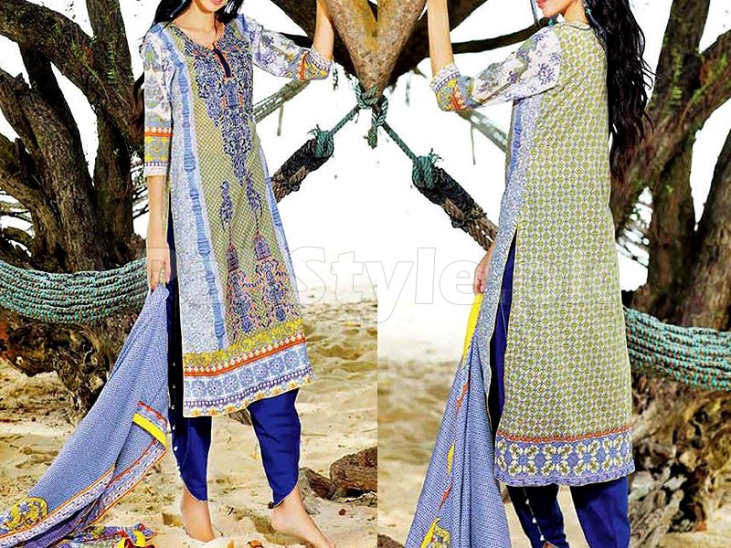 MTF Embroidered Lawn Dress D04-A Price in Pakistan