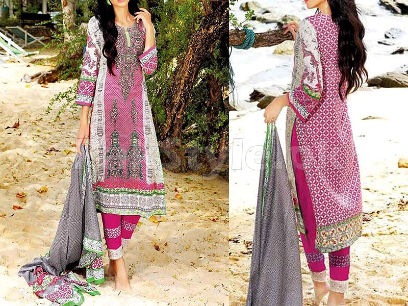 MTF Embroidered Lawn Dress D04-B Price in Pakistan