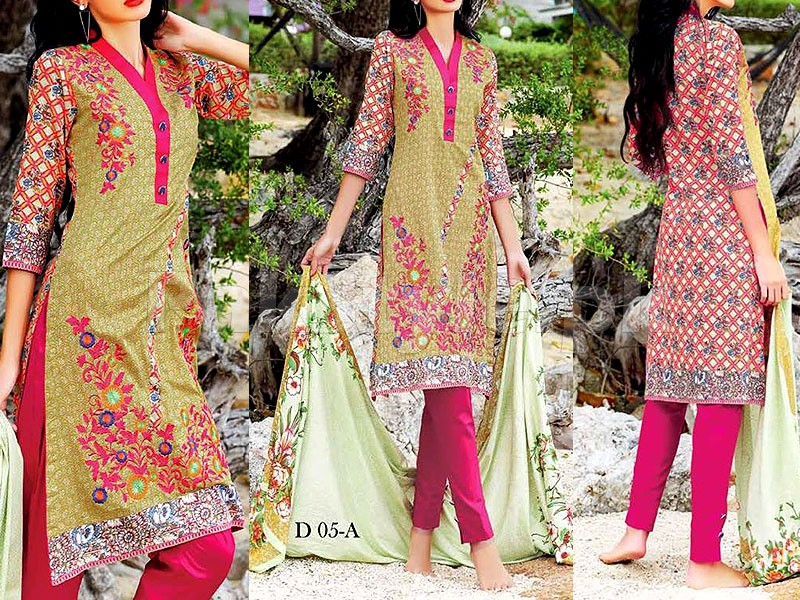 MTF Embroidered Lawn Dress D05-A