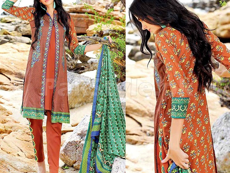 MTF Embroidered Lawn Dress D06-B Price in Pakistan