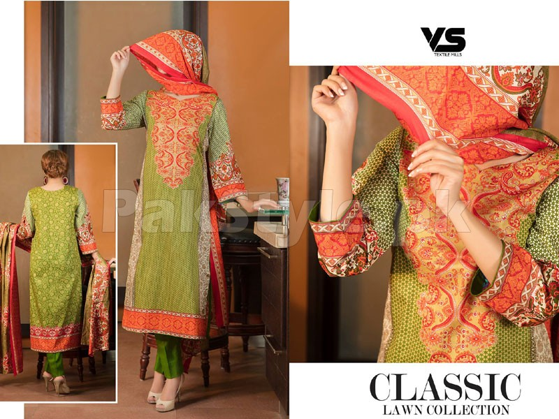 VS Classic Lawn Dress C2-15B Price in Pakistan