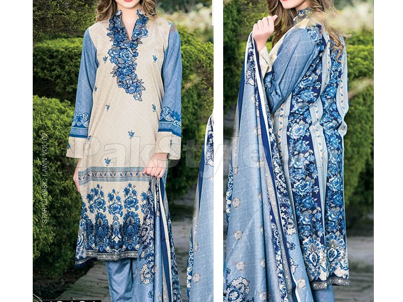 Star Classic Lawn Suit 4016-A Price in Pakistan