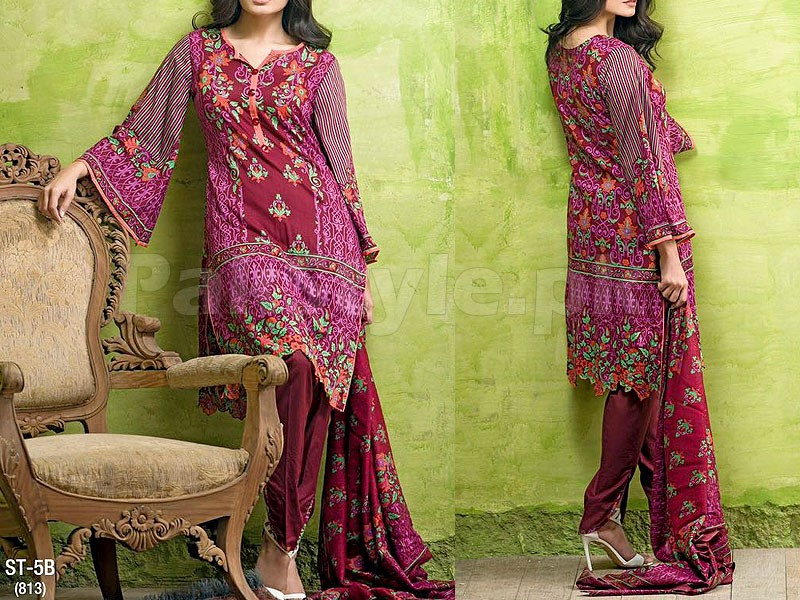 Libas Printed Lawn Suit ST-5B Price in Pakistan