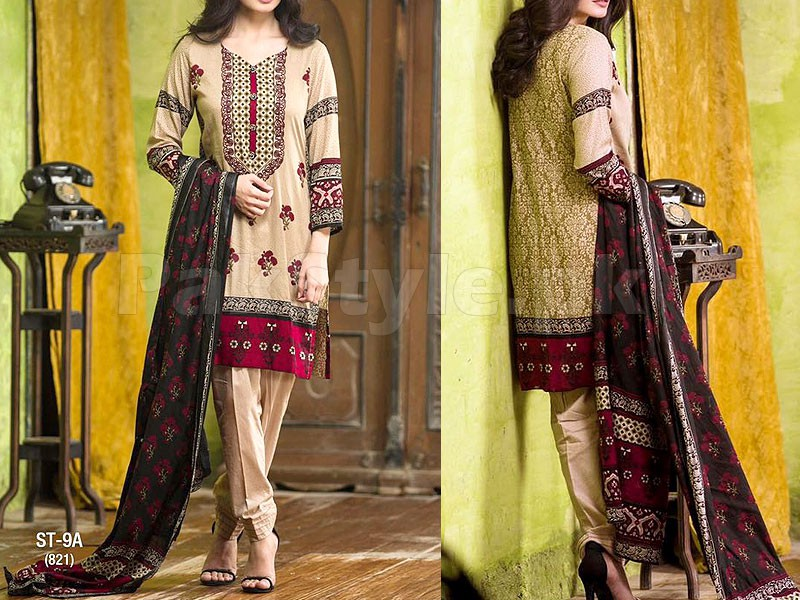 Libas Printed Lawn Suit ST-9A Price in Pakistan