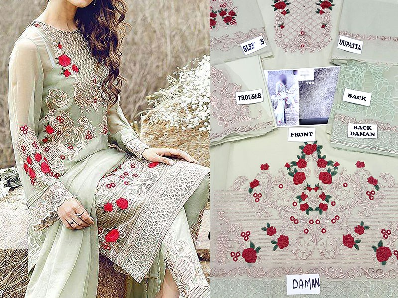 Chiffon Embroidered Suit Price in Pakistan