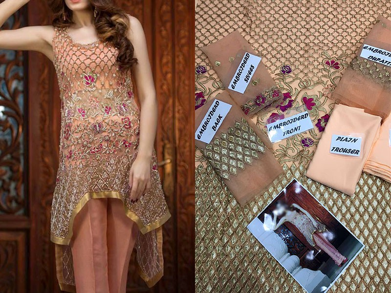 Embroidered Net Bridal Suit Price in Pakistan