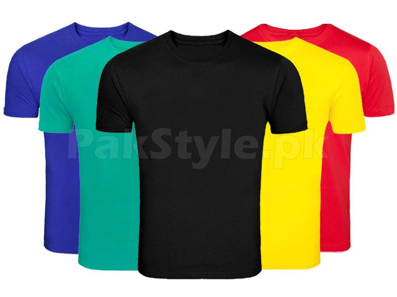 Pack of 5 Plain T-Shirts P1 Price in Pakistan