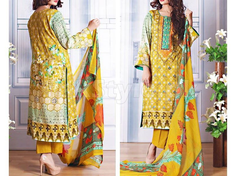 Ayesha Lakhani Embroidered Lawn 803-A in Pakistan