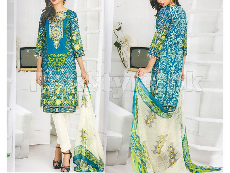 Rashid Classic Embroidered Lawn 1304-A