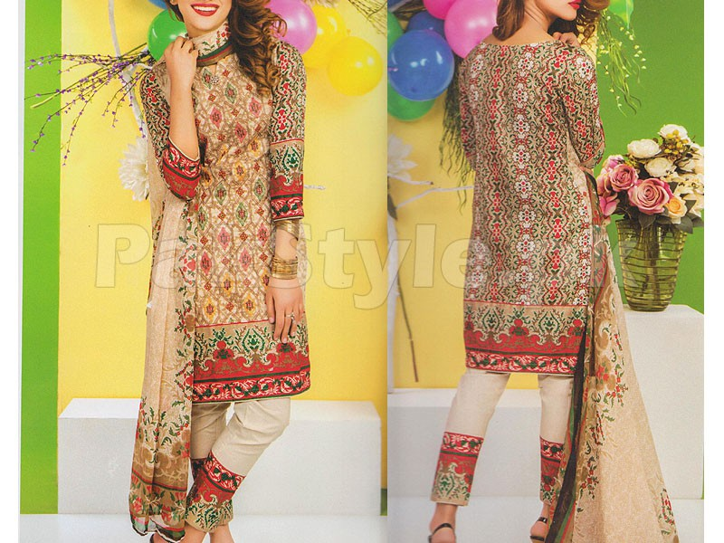 Rashid Classic Embroidered Lawn 1308-A
