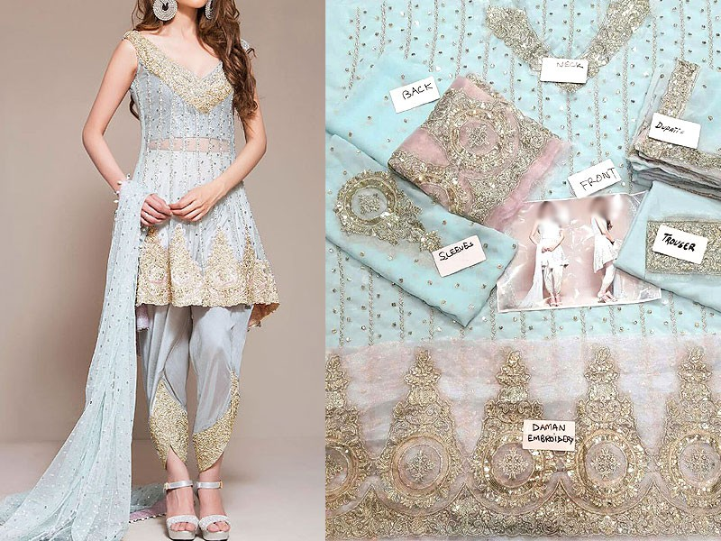Embroidered Chiffon Bridal Suit