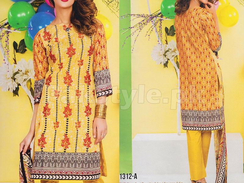 Rashid Classic Embroidered Lawn 1312-A