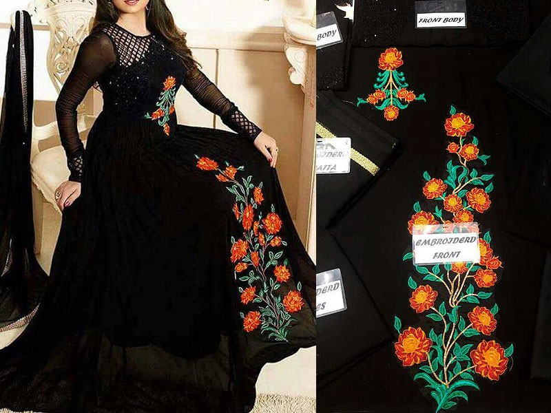 Buy All About You Black Coloured Embroidered Maxi Dress for Women Online  India, Best Prices, Reviews | AL181WA64QYIINDFAS