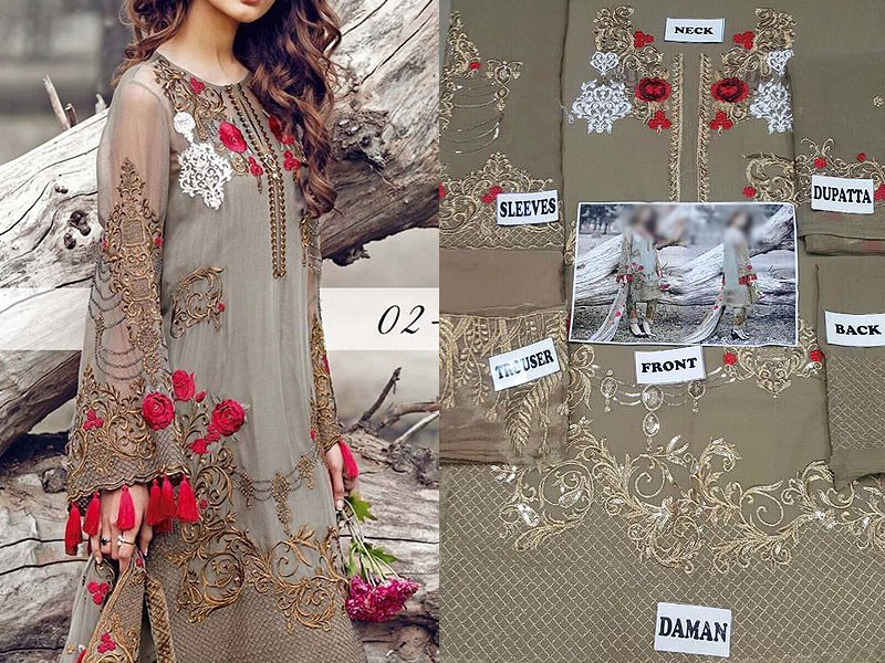 Embroidered Chiffon Dress Price in Pakistan