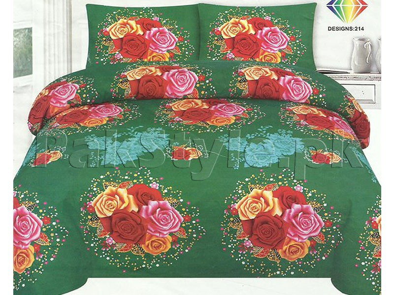 King Size Crystal Cotton Bed Sheet Price in Pakistan