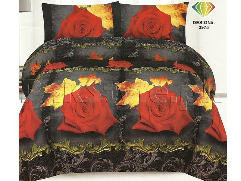 3D Bed Sheet With 2 Pillow Covers (3D-19) Price in Pakistan