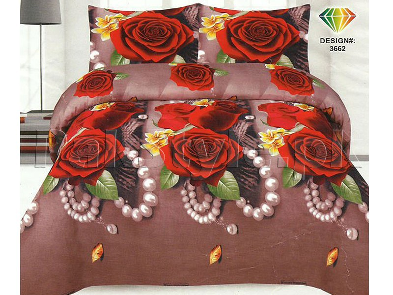 Pillow Cover Design In Pakistan: 3D Bed Sheet with 2 Pillow Covers Price in Pakistan (M009416    ,