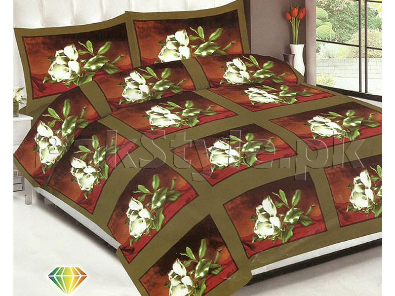 3D Bed Sheet with 2 Pillow Covers