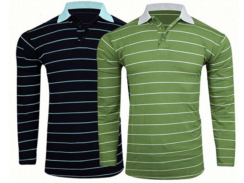Pack of 2 Yarn Dyed T-Shirts Price in Pakistan