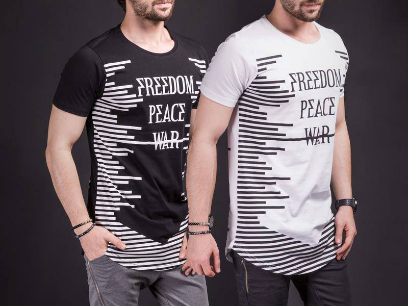 Pack of 2 Freedom Peace War T-shirts