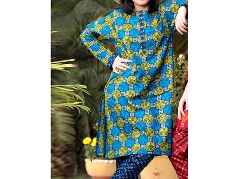 2 Piece Star Printed Lawn Suit 901-B Price in Pakistan